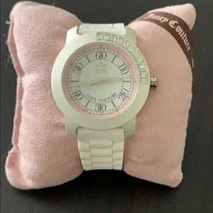 Juicy Couture white rubber band watch